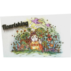 Flourishing Pin - Presented on display card