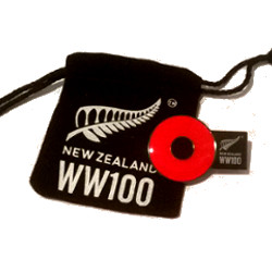 WW100 Lapel Pin presented with velvet bag