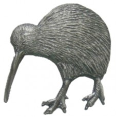 Kiwipinz - Kiwi Lapel Pin (Antique Silver)