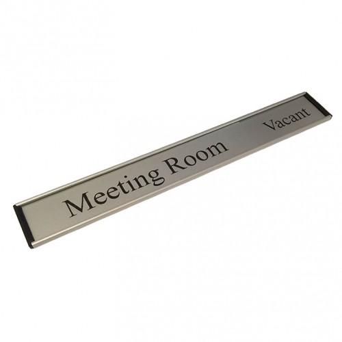 meeting room in use vacant door sign